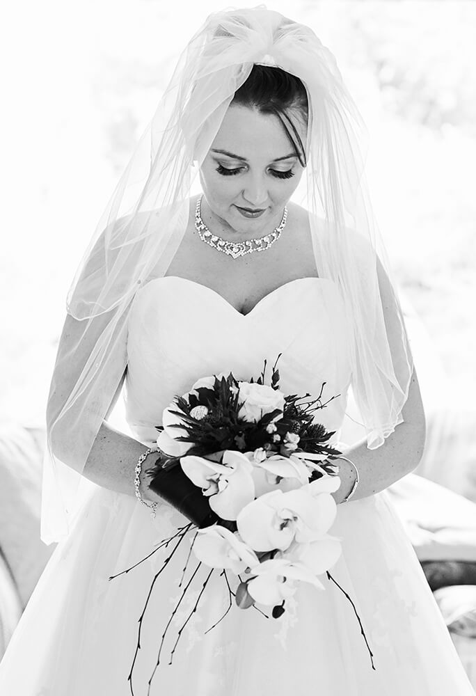 Black & white bride