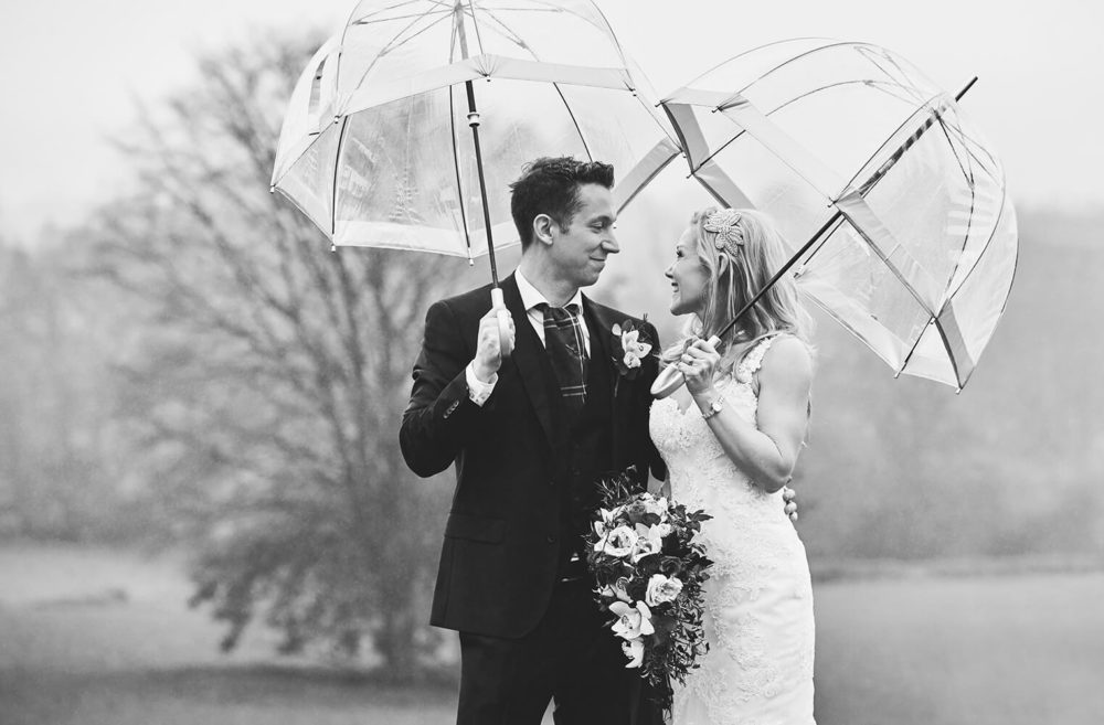 Rainy wedding Bristol