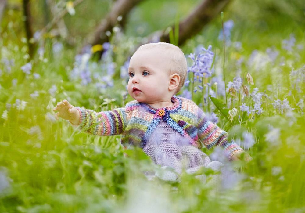 Springtime baby photo