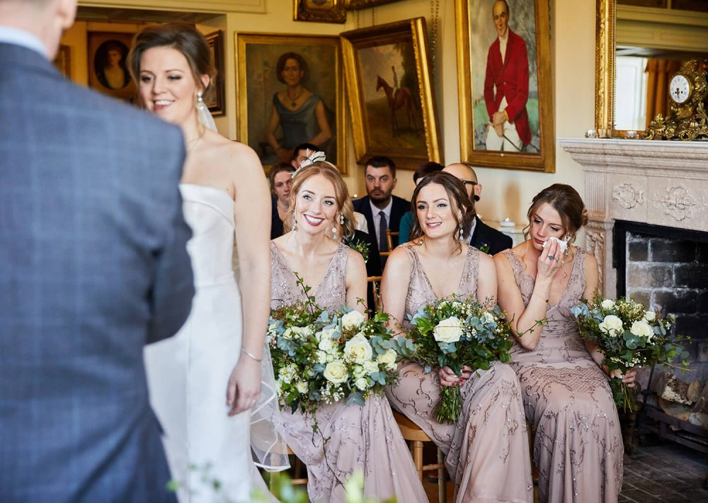Manunsel House Wedding Photography - emotional bridesmaids